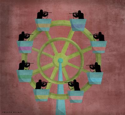 سرقة الطفولة – لوحة – سلافة حجازي