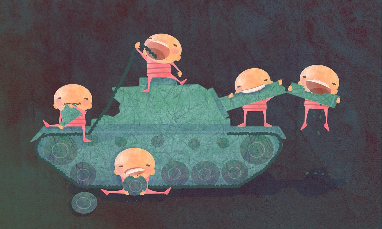 أطفال سوريا – لوحة – سلافة حجازي