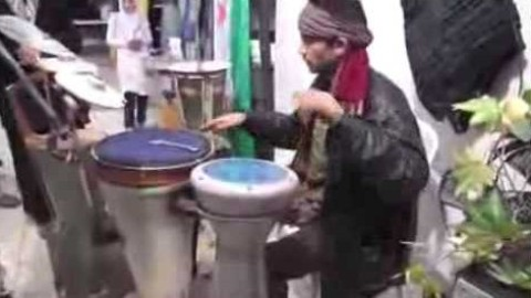 Only in Duma, Syria, weapons become musical instruments