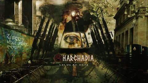 Cover of Syrian metal band Anarchadia´s album Let us all unite