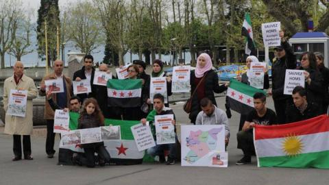 Some of the activist behind the Homs Day campaign. Source: The campaign's Facebook page.