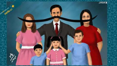 Family Portrait, by Syrian-Palestinian artist Yasser Abu Hamed. Source: Cartoon Movement