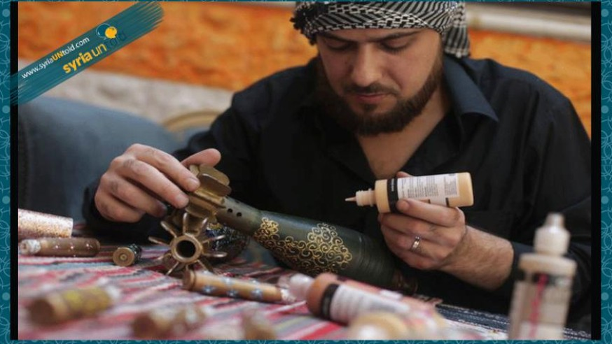 Syrian Man Turns Artillery into Art