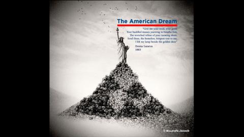 تمثال الحرية الأمريكي إذ يخون السوريين