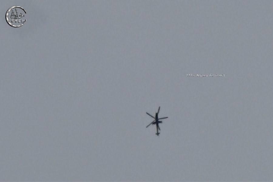 صورة تظهر الطيران الحربي في سماء درعا. المصدر: وكالة خطوة
