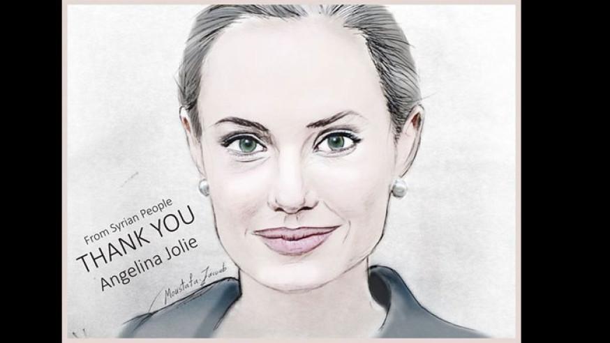 السوريون يحبون أنجلينا جولي على طريقتهم