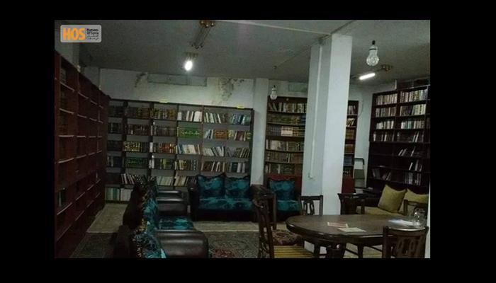 صورة للمكتبة. المصدر: صفحة الإنسان في سوريا على الفيسبوك