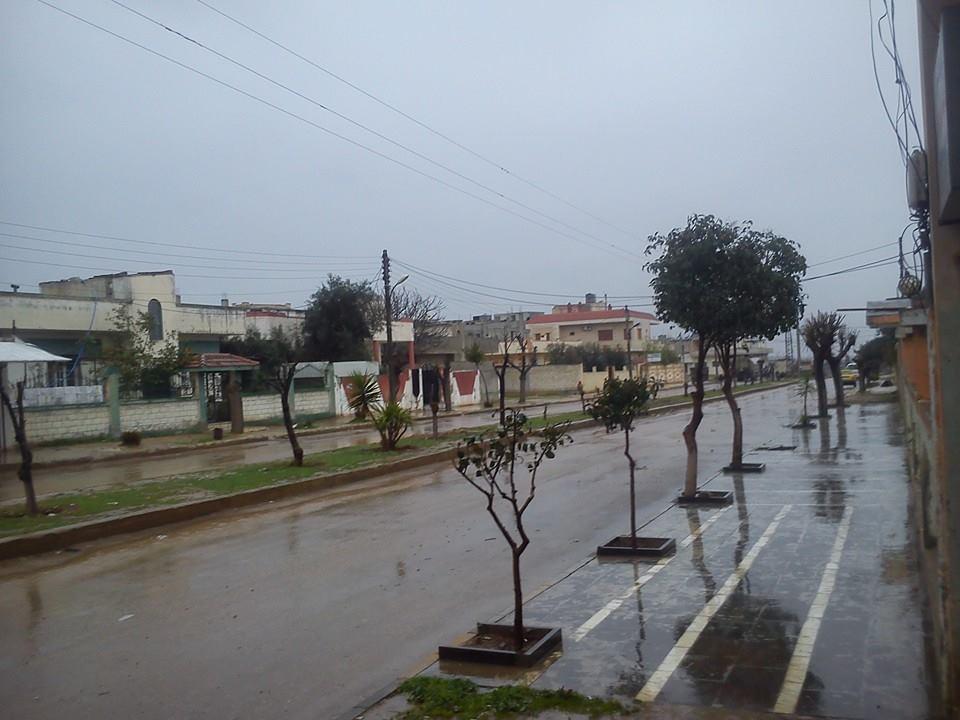 شارع من تيرمعلة عام 2014، المصدر: صفحة تيرمعلة مباشر.