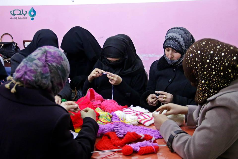 Textile Course/Source: Women Now Center in Ma'arat al-Nouman, Facebook