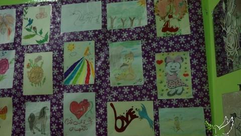 لوحات فرح بأيدي أطفال درعا