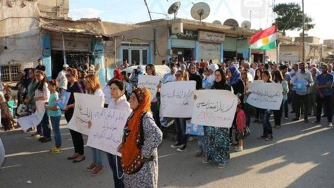 أهالي عامودا ينتفضون بوجه حزب الاتحاد الديمقراطي