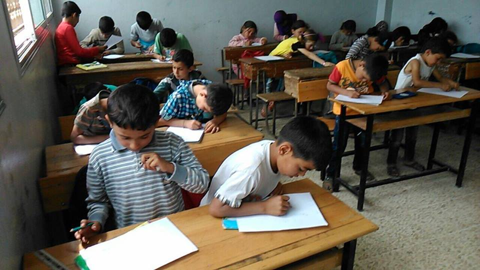 مدرسة خطوات لتعليم الأطفال، إدلب، سلقين، 2016، المصدر: خاص حكاية ما انحكت.