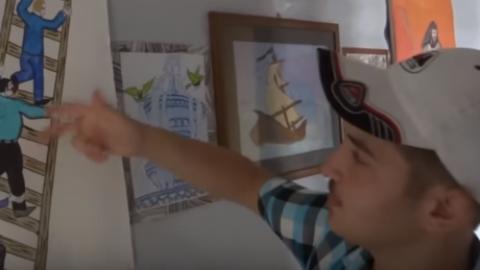 ناصر الفهد، رسام يكسر الحصار