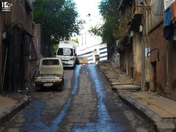 [Photo: Malja' Incline - Inner Shaghur - Damascus (Lens Young Dimashqi's Facebook page)].