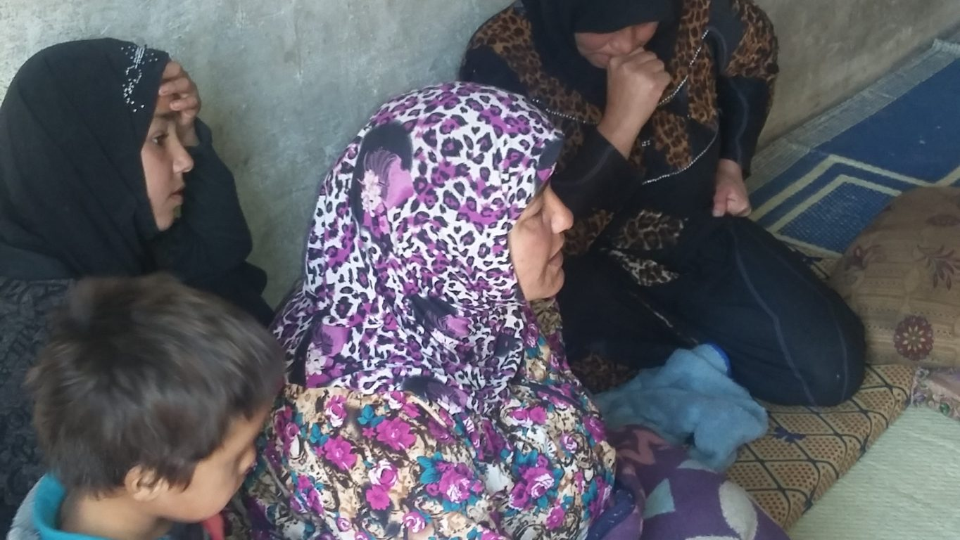 [Photo: Widows go through hard living conditions in Idlib countryside - 3-11-2016 (Hadya Yahya/SyriaUntold)].
