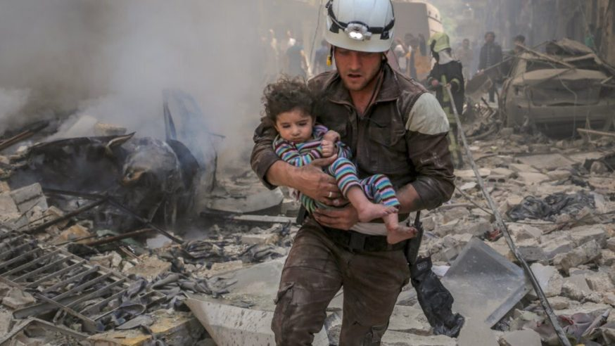 White Helmets, Not White Collars